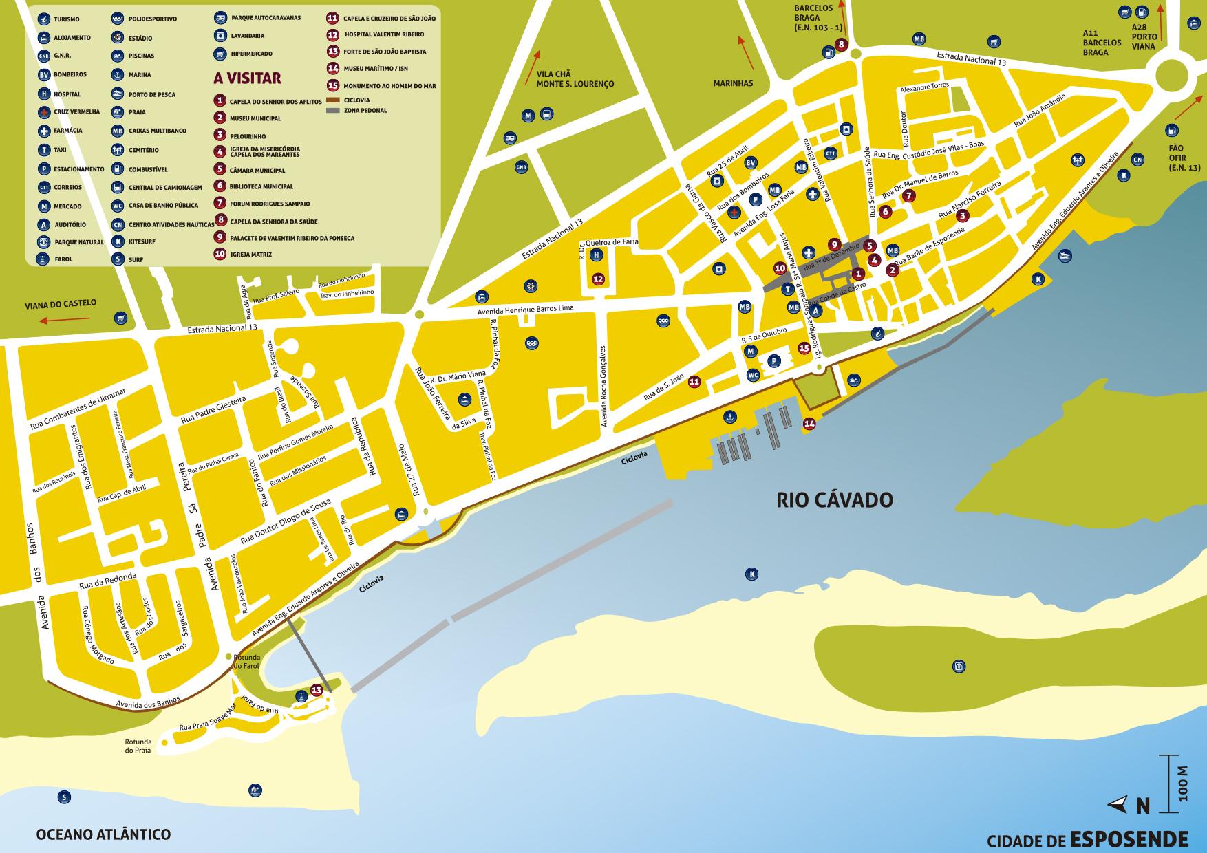 esposende mapa portugal Visite Esposende   Downloads esposende mapa portugal