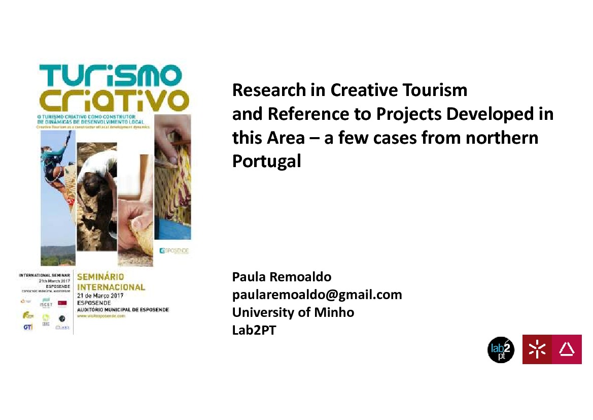 Research in Creative Tourism and Reference to Projects Developed in this Area