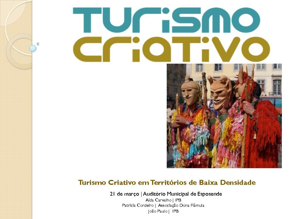 Turismo Criativo em Territórios de Baixa Densidade