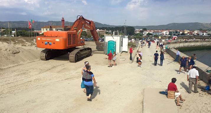 Arrancaram as obras de reabilitação do  Molhe Norte da Embocadura do Rio  Cávado