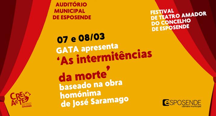 """GATA apresenta """"As intermitências da  morte"""" no FestiAma"""