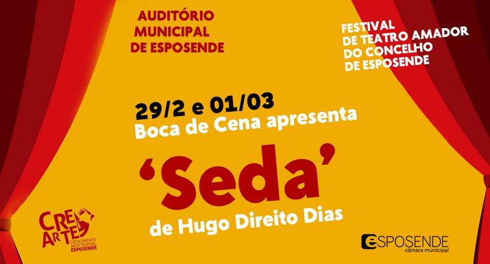 "Grupo ""Boca de Cena"" apresenta ""Seda"" no Festival de Teatro Amador de Esposende"