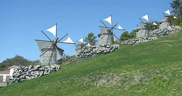 Município lança primeira fase da obra do Parque temático dos Moinhos de vento da Abelheira
